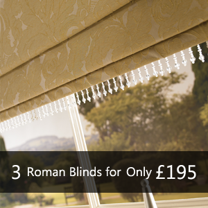 3 Roman Blinds for only £195 - Many More Blinds in store. Vertical Roman Roller Venetian Wooden Blinds, pleated, energy saving blackout blinds