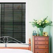 wooden blinds - Piano Black Wood Venetian