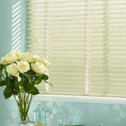 wooden blinds - antique cream